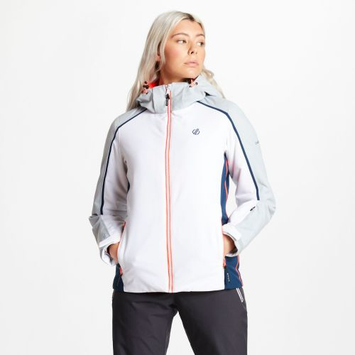 Women's Comity Ski Jacket White Argent Grey